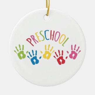 École maternelle ornement rond en céramique