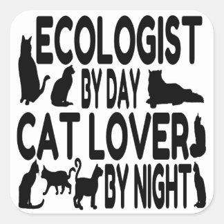 Écologiste d'amoureux des chats sticker carré