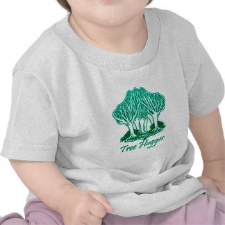 Écologiste de nature de Hugger d'arbre d'Aqua T-shirts