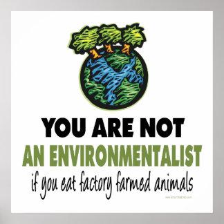 Écologiste = végétalien, végétarien affiches