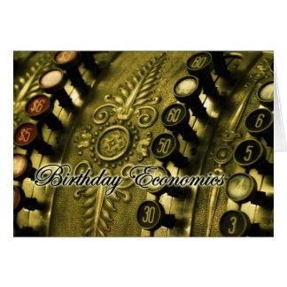 Économie d'anniversaire inestimable carte de vœux