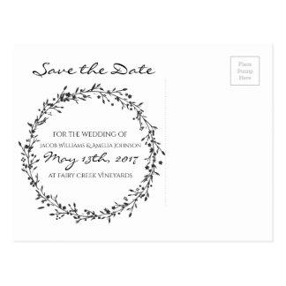 Économie-Le-Date florale de guirlande Carte Postale