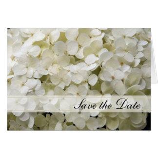 Économies blanches de mariage d'hortensia le carte de vœux