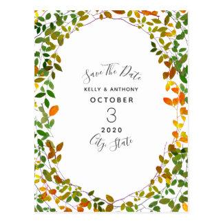 Économies botaniques d'automne tôt la carte