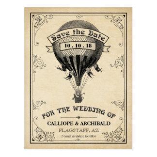 Économies chaudes vintages de mariage de ballon à carte postale