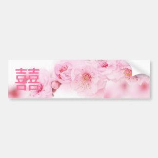 Économies chinoises de mariage de fleur rose de re autocollant de voiture