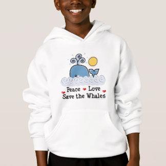 Économies d'amour de paix le sweatshirt à capuchon
