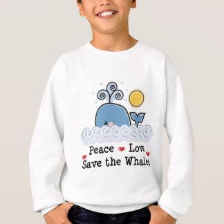 Économies d'amour de paix le sweatshirt d'enfants