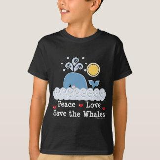 Économies d'amour de paix le T-shirt d'enfants de