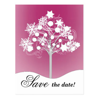 Économies d'arbre d'hiver la carte postale de date