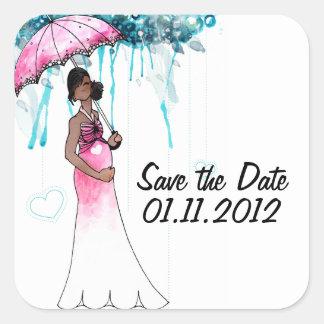Économies de baby shower les autocollants de date