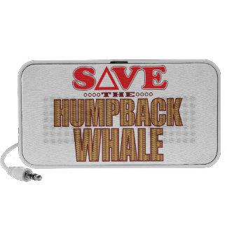 Économies de baleine de bosse haut-parleur notebook