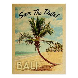 Économies de Bali le palmier vintage de plage de Carte Postale