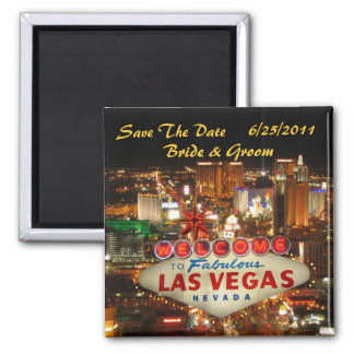 Économies de bande de Las Vegas l'aimant de date Magnet Carré