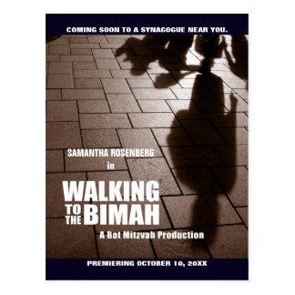 Économies de Bimah de bat mitzvah la carte postale