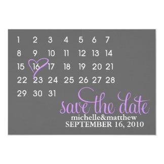 Économies de calendrier les annonces de mariage de carton d'invitation  12,7 cm x 17,78 cm