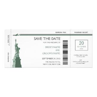 Économies de carte d embarquement les invitations