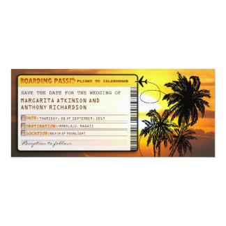 économies de carte d'embarquement les billets de carton d'invitation  10,16 cm x 23,49 cm