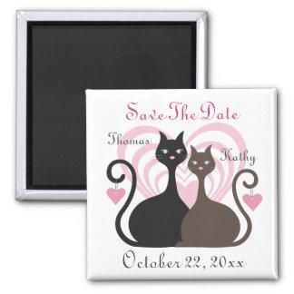 Économies de coutume de chats d'amour le carré aimant