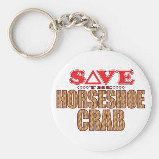 Économies de crabe en fer à cheval porte-clé rond
