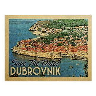 Économies de Dubrovnik le cru Croatie de date Carte Postale