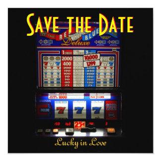 Économies de Las Vegas la machine à sous de date Faire-parts