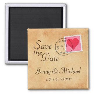 Économies de lettre d amour l aimant de date avec