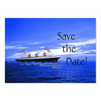 Économies de l'océan | de bateau de croisière de carton d'invitation  12,7 cm x 17,78 cm