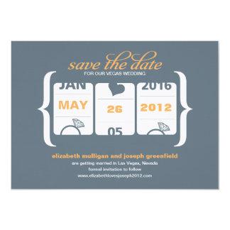 Économies de machine à sous la date - mariage carton d'invitation  12,7 cm x 17,78 cm