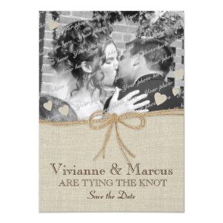 Économies de mariage campagnard la date carton d'invitation  11,43 cm x 15,87 cm