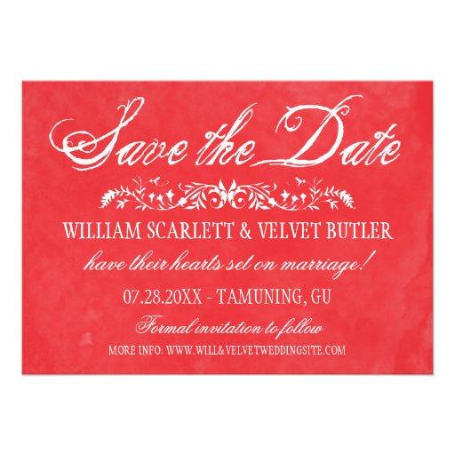 Économies de mariage d'aquarelle la date cartons d'invitation