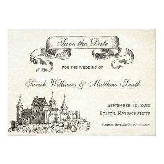 Économies de mariage de conte de fées la date carton d'invitation  12,7 cm x 17,78 cm