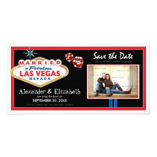 Économies de mariage de destination de Vegas la da Cartes De Vœux Avec Photo