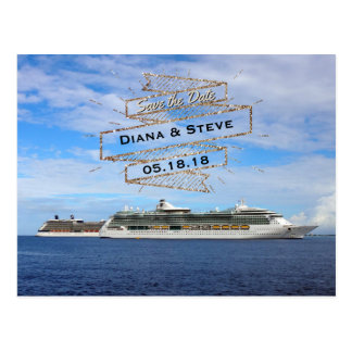 Économies de mariage de destination les bateaux de carte postale