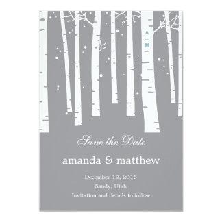 Économies de mariage de forêt d'hiver les cartes invitation personnalisée