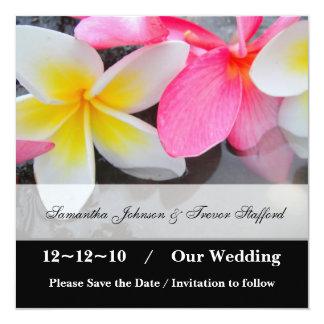 Économies de mariage de Frangipani les annonces de Carton D'invitation 13,33 Cm