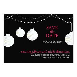 Économies de mariage de lampion la date cartons d'invitation