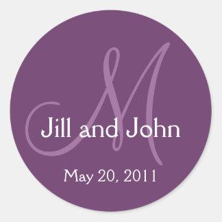 Économies de mariage de monogramme l'autocollant