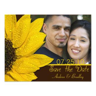 Économies de mariage de photo de Brown de Carton D'invitation 10,79 Cm X 13,97 Cm
