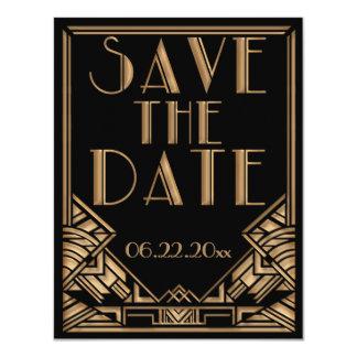 Économies de mariage de style de Gatsby d'art déco Invitations Personnalisées