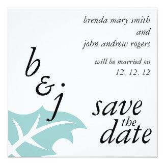 Économies de mariage d'hiver les annonces de date carton d'invitation  13,33 cm