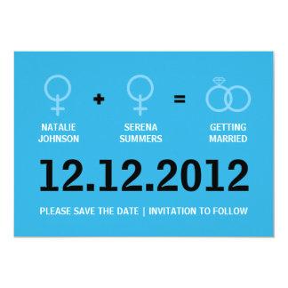 Économies de mariage homosexuel la version de carton d'invitation  12,7 cm x 17,78 cm