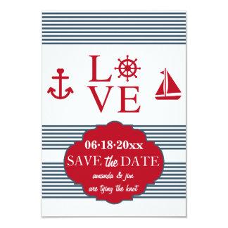 Économies de navigation d'amour le faire-part de carton d'invitation 8,89 cm x 12,70 cm