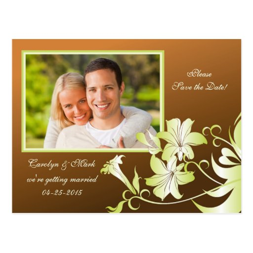 Économies de photo de fleur de trompette la carte  cartes postales