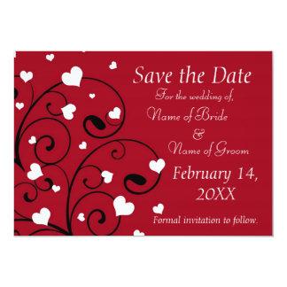 Économies de photo de mariage de Saint-Valentin Carton D'invitation 12,7 Cm X 17,78 Cm