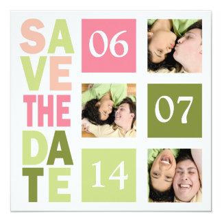 Économies de photo les cartes de date carton d'invitation  13,33 cm