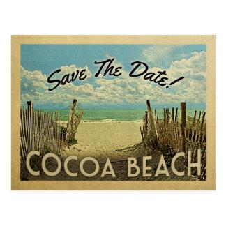 Économies de plage de cacao la plage vintage de cartes postales