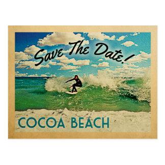 Économies de plage de cacao surfer de la Floride Carte Postale