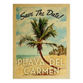 Économies de Playa del Carmen le palmier de cru de Carte Postale