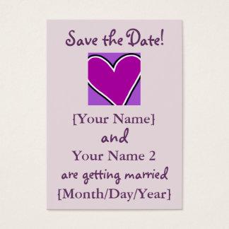 Économies de Purple Heart les cartes de date